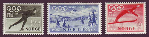 NOB50-52 Norway               Scott # B50-52 MNH**,    Olympic Winter Games 1951