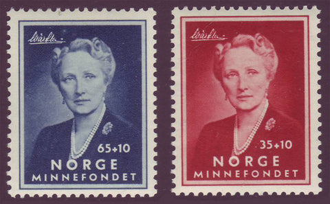 NOB57-81 Norway               Scott # B57-58 MNH**      Crown Princess Martha 1956