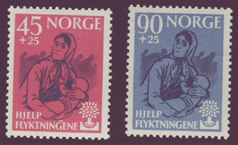 NOB64-651 Norway               Scott # B64-65 MNH**  World      Refugee Year 1960