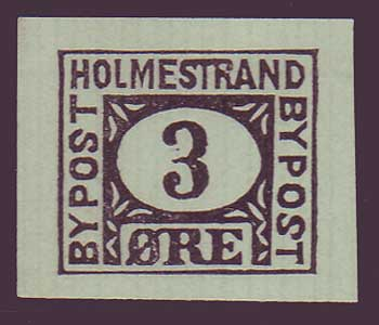 NOHolm41 Norway,          Holmestrand Bypost (1888)