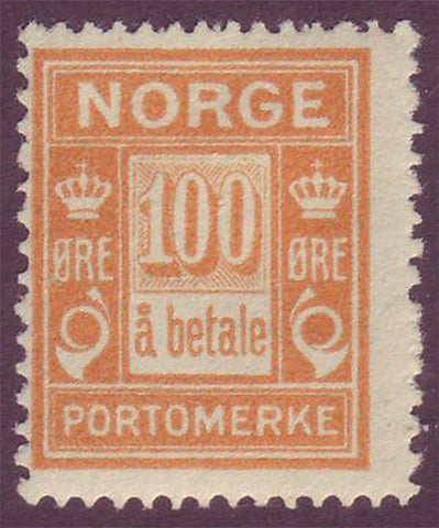 NOJ112 Norway Scott # J11 F MH, Postage Due ''a betala'' 1922