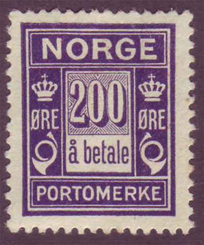 NOJ122 Norway Scott # J12 VF MH Postage Due ''a betale''