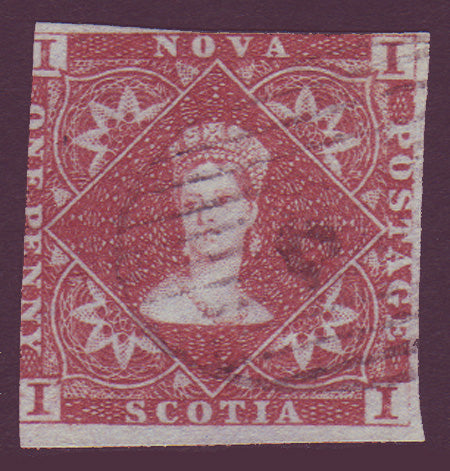 NS015.1      Nova Scotia # 1 F Used 1853
