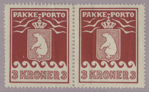 GRQ092.1GH Greenland Scott # Q9 VF MH pair - 1930