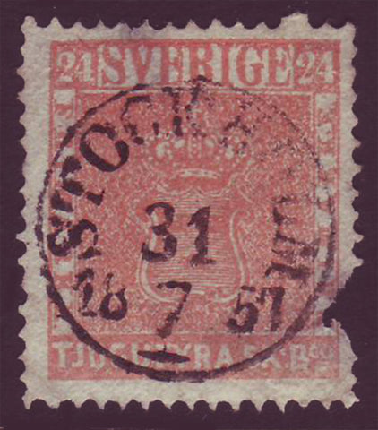 SW00055 Sweden Scott # 5 space filler with superb S.O.N. cancel.