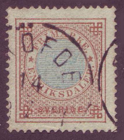 SW00275 Sweden Scott # 27 VF used, Ring Issue 1872-77