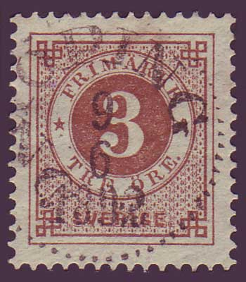 SW00415 Sweden Stamp # 41 Ring Issue 1886-91