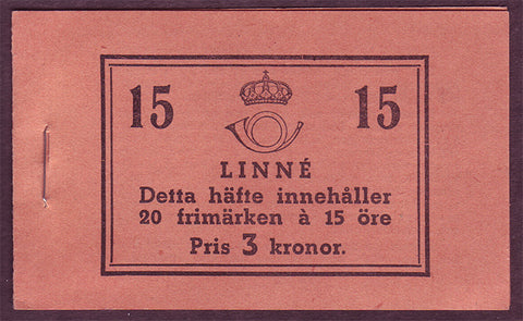 SW0298b Sweden Scott # 298a, Carl von Linne booklet