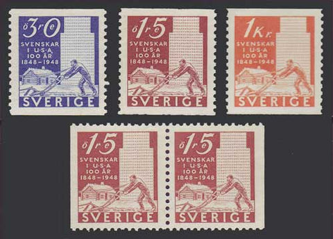 SW0400-031PE Sweden Scott # 400-03 MNH** 1948