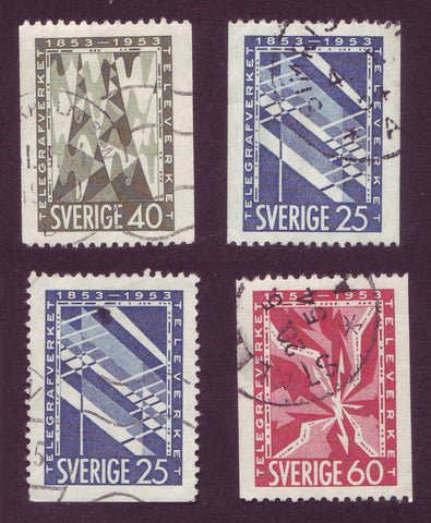SW0452-555 Sweden Scott # 452-55 Used 1953