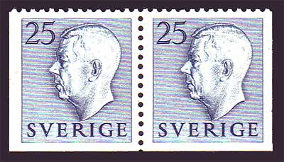 SW0461var1 Sweden  Scott # 461  MNH booklet pair 1954