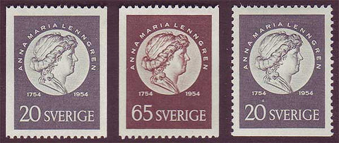 SW0465-672 Sweden  Scott # 465-67  MNH** 1954