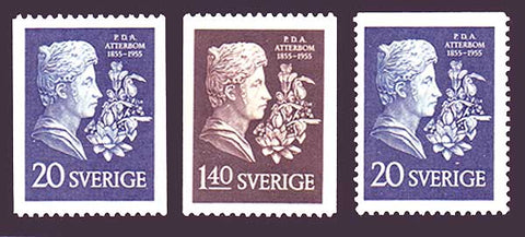 SW0484-861 Sweden Scott # 484-86 VF MNH** 1955