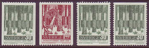 SW0544-46 Sweden Scott # 544-46 MNH, Timber Industry 1959