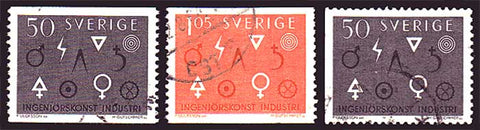 SW0626-285 Sweden Scott # 626-28 Used, Engineering and Industry 1963