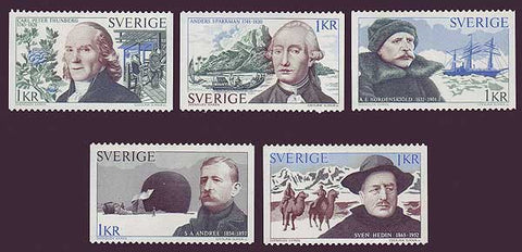 SW1005-091 Sweden                    # 1005-09  MNH, Swedish Explorers        1973