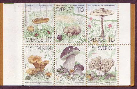 SW1264aexp Sweden booklet pane MNH,     Mushrooms 1978