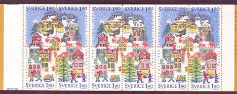 SW1617b Sweden booklet MNH,         Christmas 1986