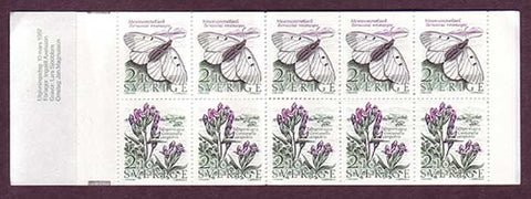 SW1624a Sweden booklet MNH,           Nature Conservation 1987