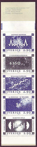 SW1665a Sweden booklet MNH,          Nobel Prize in Astrophysics 1987