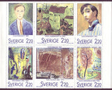 SW1699a Sweden booklet MNH,               Art and Paintings 1988