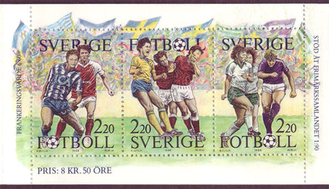 SW1708a Sweden Booklet MNH, Football 1988