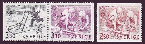 SW1736-381 Sweden Scott # 1736-38 MNH, Europa - Children's Games 1989