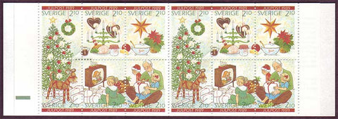 SW1771a Sweden booklet MNH,            Christmas 1989