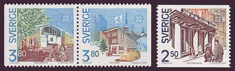 SW1810-121 Sweden Scott # 1810-12 MNH, Europa - Post Offices 1990