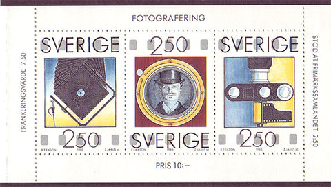 SW1844a Sweden booklet MNH,              Photography 1990