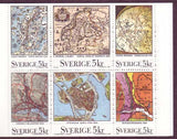 SW1866a Sweden booklet MNH,       Maps, Antique and Modern - 1991