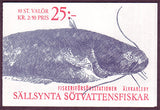 SW1868b Sweden booklet MNH,      Freshwater Fish 1991