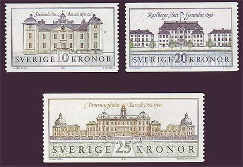 SW1874-771 Sweden Scott # 1874-77 MNH, Swedish Palaces 4
