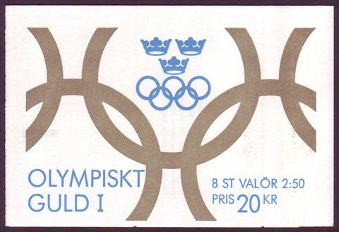 SW1897a Sweden booklet MNH,          Olympic Gold 1 - 1991