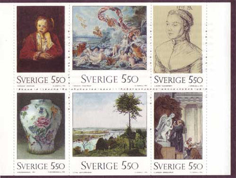 SW1968a Sweden booklet MNH,       National Museum - 1992