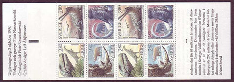 SW1972a1 Sweden          Scott # 1972a  /      Facit H430   Prehistoric Animals / Dinosaurs