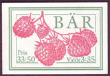 SW2002a Sweden  booklet MNH,    Berries and Fruit - 1995