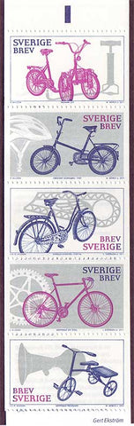 SW2652a Sweden booklet MNH,   Sc. # 2652a MNH,          Bicycles 2011