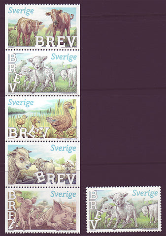 SW2712 Sweden       Scott # 2711-12 MNH,           Baby Farm Animals 2013