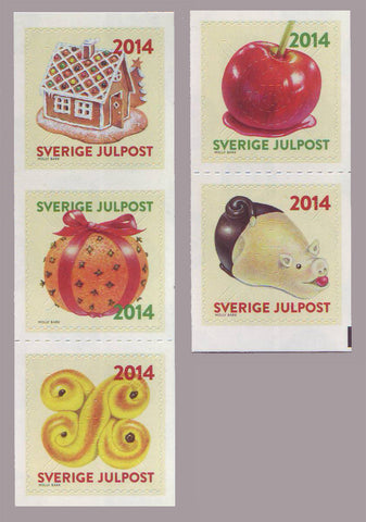 SW2738-39 Sweden        # 2738-39 MNH,            Christmas Sweets - 2014