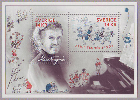 SW2737 Sweden # 2737 MNH,          Alice Tegner, Musician and Composer - 2014