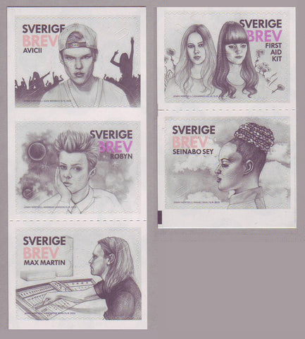 SW2742 Sweden     # 2742 MNH,            Swedish Pop Music Exports - 2015