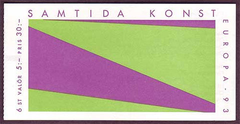 SW2019a1 Sweden booklet  MNH,  Contemporary Art - Europa 1993