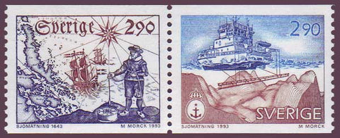SW2033a1 Sweden Scott # 2033a MNH,  Hydrographic Survey - 1993