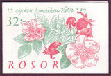 SW2075a Sweden booklet       Scott # 2075a /      Facit H447,        Roses 1994