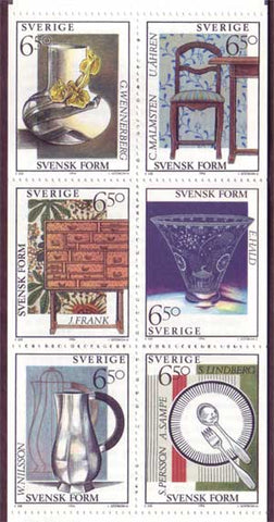 SW2081a Sweden booklet MNH,     Swedish Design - 1994