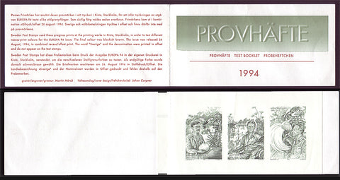 SW2090BP Sweden Explorers - Europa 1994 test booklet