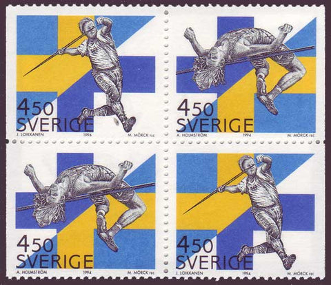 SW2092a1 Sweden booklet MNH,  Sweden - Finland Track and Field Meet 1994