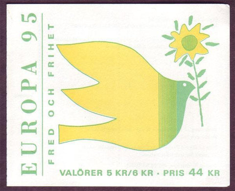 SW2119a1 Sweden booklet MNH,  Wood Sculptures by Bror Hjorth - Europa 1995