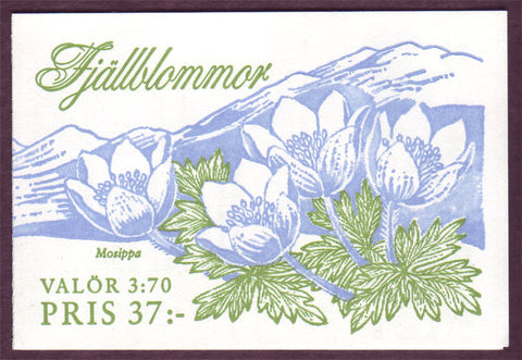 SW2121a Sweden booklet MNH, Mountain Flowers - 1995